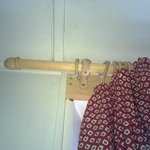 Curtains not on rings and hooks werent used but plastic ties
