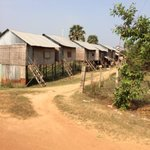 Small huts in the villages surrounding the killing fields area on quad country life tour