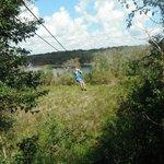 Ziplining in Coba
