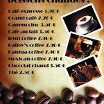 Coffe list