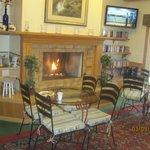 breakfast area - cozy fireplace