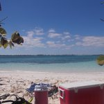 View from Goat Key where we spent a half day