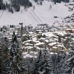 Looking down on Davos