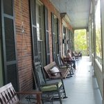 Beautiful front porch with Mississippi River view