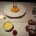 mango sorbe and beignets-decadent!