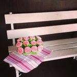 Maceta de flores (cupcakes)