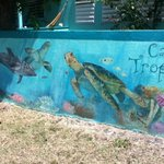 Mural on the Casita's front wall