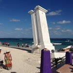 Lighthouse at nearby Puerto Morelos village