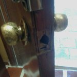 Room entrance door for first room checked into