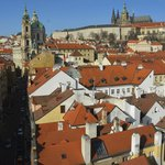View of Prague Castle from Charles Bridge Tower