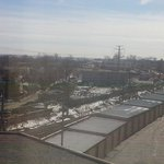 My right side view from room 677. The train tracks!