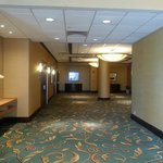 One of the corridors on the second floor. Leads to four large meeting rooms at the end.