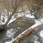 stream bridge passes over:)