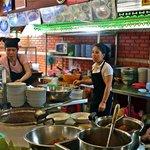Huen Phen's clean stainless steel kitchen