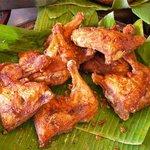 Moist, juicy fried chicken