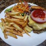 Juicy tasty camel burger!