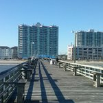 View of both towers from the pier.