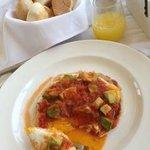 Quesadillas breakfast at Santo Domingo del Cerro