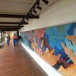 Mural at the entrance to Santo Domingo del Cerro