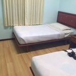 Clean room with flat TV and minibar