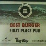 Best Burger in Big Sky!