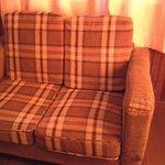 Broken sofa of the room