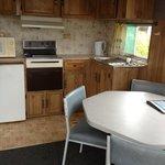 Kitchen in budget cabin