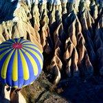 Vista de la excursión en globo