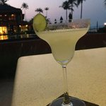 A delicious frozen margarita at the beach bar.