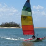catamaran sailing noosa river