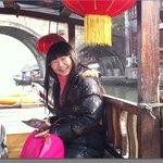 Lisa took us on a boat in Zhujiajiao water village
