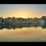 Sunrise view from Thamla Haveli lake side room