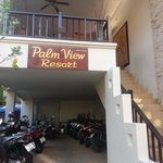 Entrance to Palm View Resort Up the Stairs