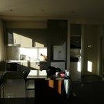Salle à manger avec kitchenette MAL et sèche linge