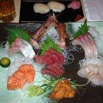 premium sashimi and nigiri