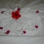 déco sur le lit