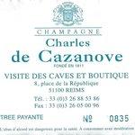 Charles de Cazanove tour ticket