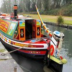 Trips are available on this traditional canal boat