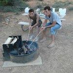 Notre emplacement avec le barbecue ;-)