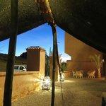 Fantástico porche del Riad.