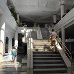 marble stairway to dinner