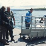 Boarding the ferries from the Aran Islands.