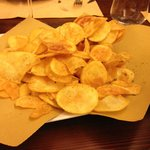 Patatine chips fritte