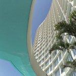 Fachada vista da piscina