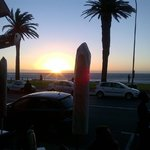 Camps Bay sunset from our table