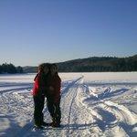sur le lac avec ma fille