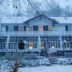 Das Waldhaus en invierno, también abierto al público.