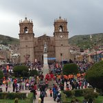 View of Virgen de la Candelaria festival from Mojsa 2nd floor table