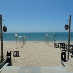 Beach area (in front of the restaurant)