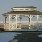 Gazebo on the lawn by Lake Erie